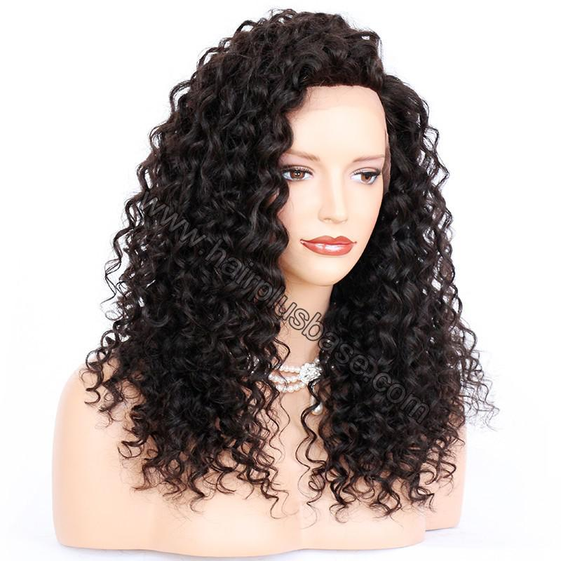Loose Curly Silk Base 4*4 Lace Front Wigs Indian Human Hair 2