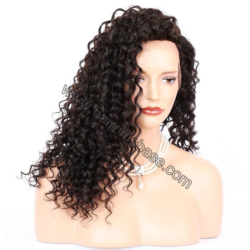 Loose Curly Silk Base 4*4 Lace Front Wigs Indian Human Hair 6