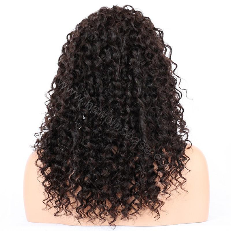 Loose Curly Silk Base 4*4 Lace Front Wigs Indian Human Hair 7