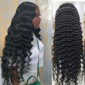 Loose Deep Long Glueless Lace Front Wigs Human Hair 24-40Inch