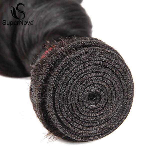 Loose Deep Wave Brazilian Hair 4 Bundles with 4×4 Lace Closures 4