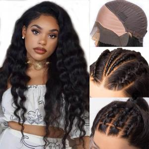 Loose Deep Wave Fake Scalp Invisible 13*4 Lace Front Wigs Bleached Knots Undetectable Lace Wigs