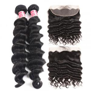 Loose Deep Wave Hair 2 Bundles With 13x4 Lace Frontal Human Hair