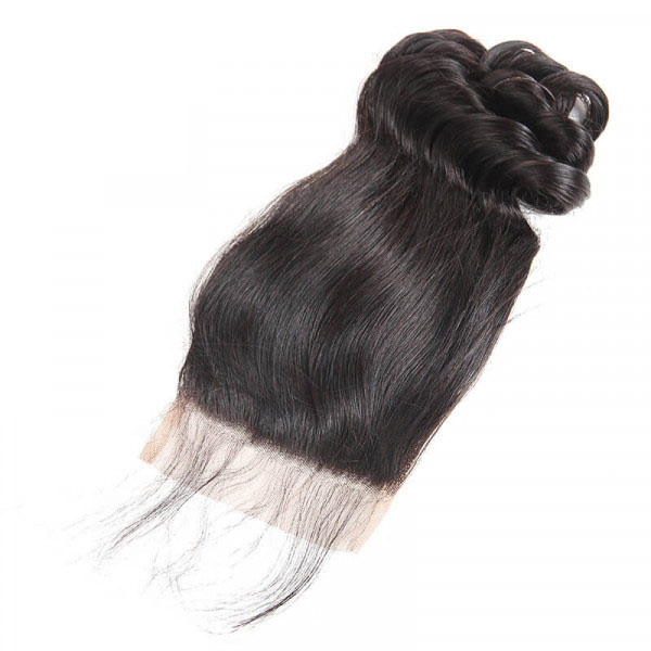 Loose Wave Brazilian Hair 3 Bundles with 4×4 Lace Closures 6