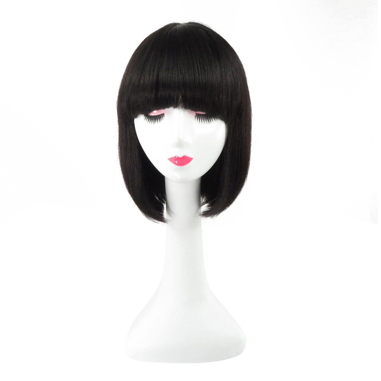 Machine Weft Bob Wigs 100% Remy Human Hair Mommy Straight Human Wig 0