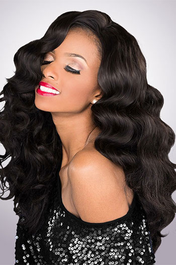 18 Inch Body Wave Malaysian Virgin Hair Full Lace Wigs