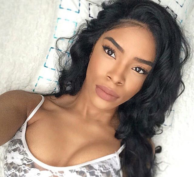 18inches natural color Chinese Virgin Hair Glueless Lace Front Wigs Silky Straight