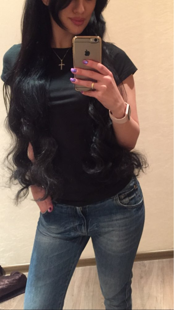 30 Inch #1b Natural Black Clip In Remy Human Hair Extensions 7pcs 03