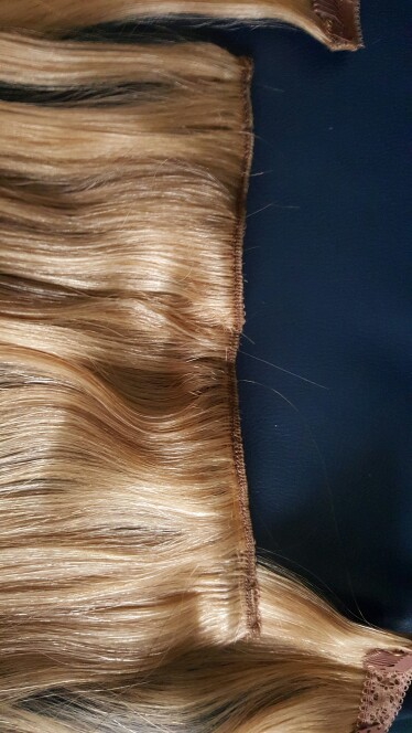 15 Inch #27 Strawberry Blonde Clip In Human Hair Extensions 7pcs 02