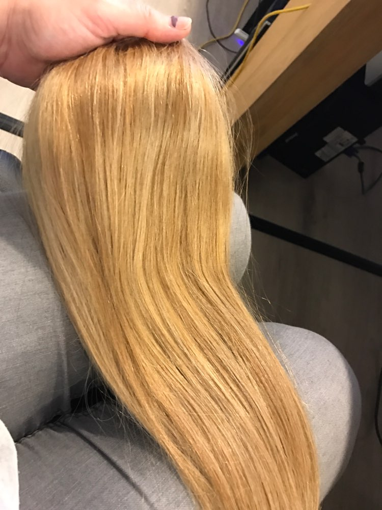 Strawberry Blonde Clip In Human Hair Extensions 7pcs 03
