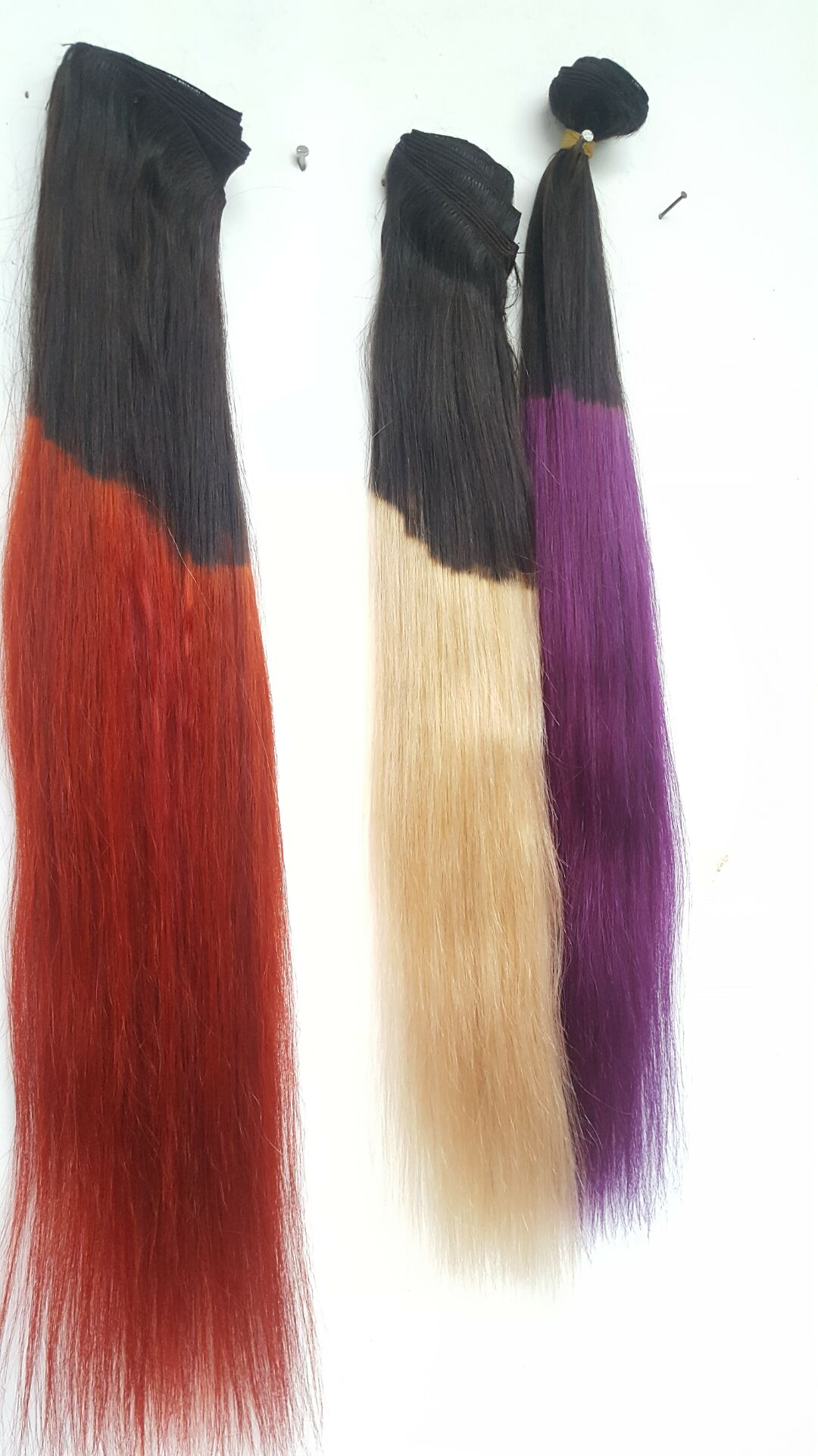 30%- 70% ombre clip in hair extensions