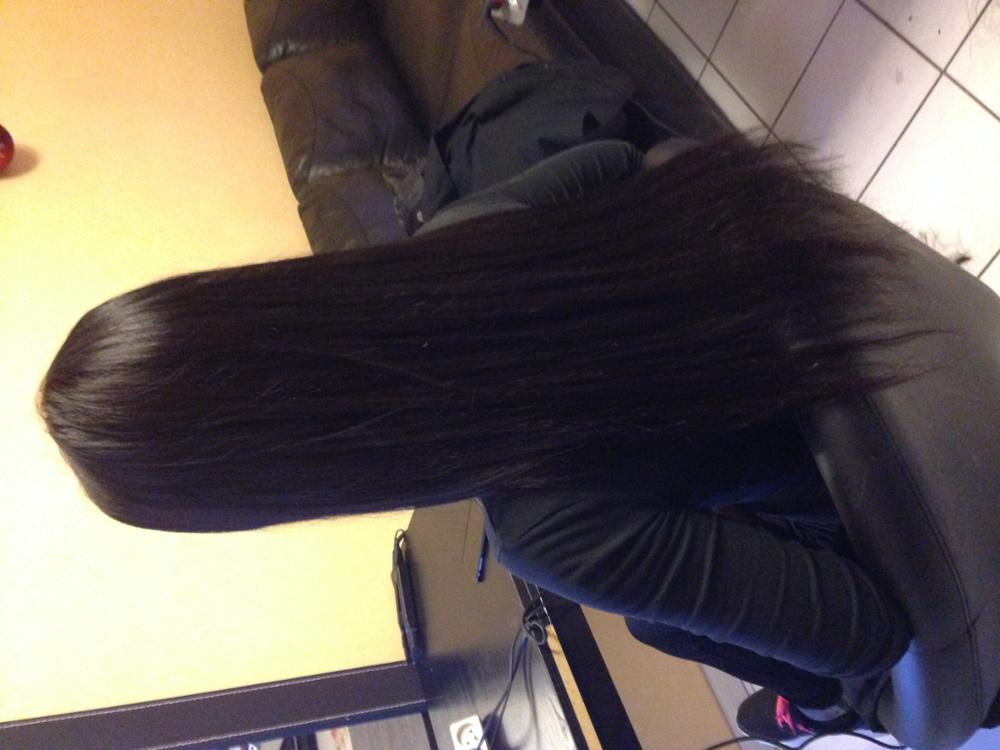 Natural Black Stick I Tip Straight Real Human Hair Extensions 100S 03