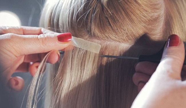 Tips for installing and removing the tape in hair extensions