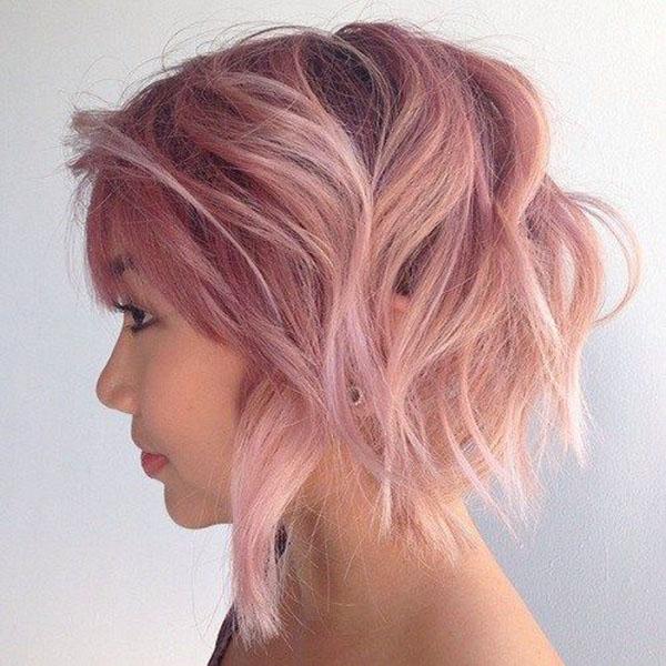 Choppy Pink Bob Style