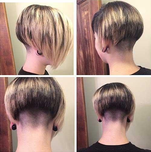 Shaved bob hair