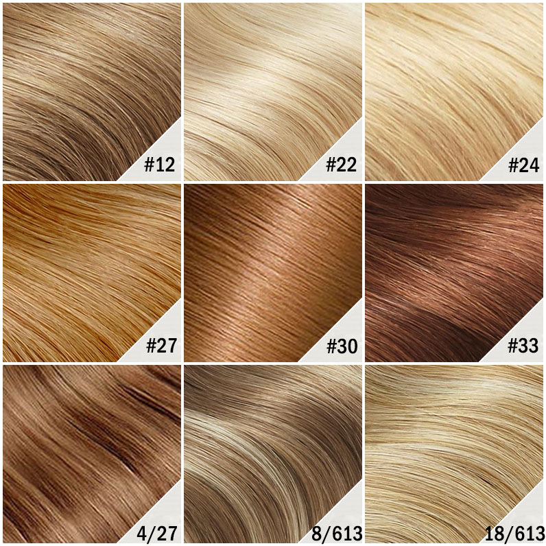 14 Inch Fine Drawstring Human Hair Ponytail Straight #613 Bleach Blonde Color Chart 2