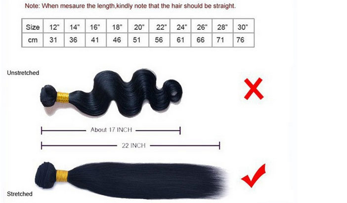 Hairplusbase Measure hair weave