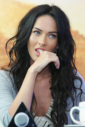 Megan Fox Sexy Long Wavy Virgin Human Hair Full Lace Wigs