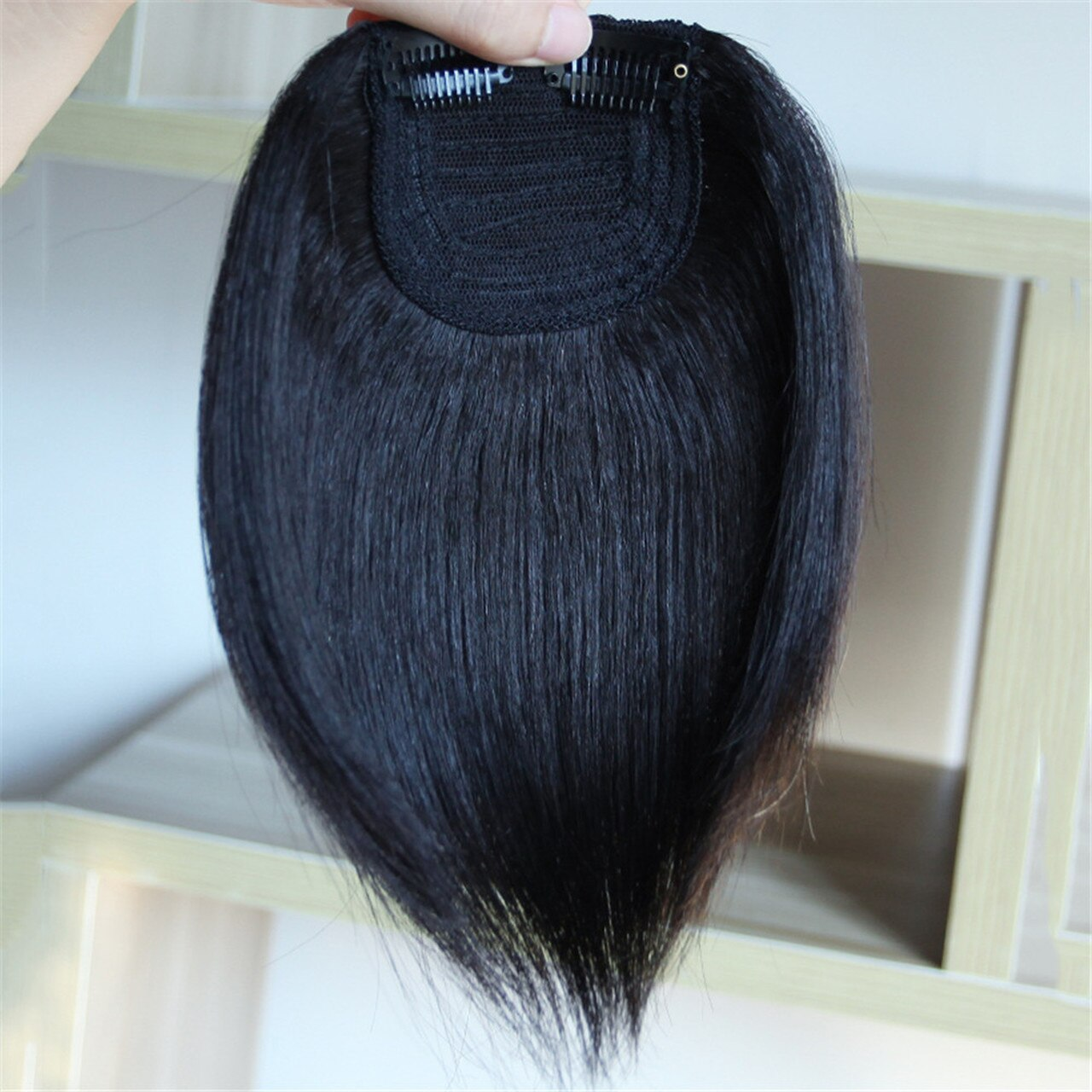Men Slicked Back Hairpiece Invisible Human Hair Mat For Increasing Hair Volume 1