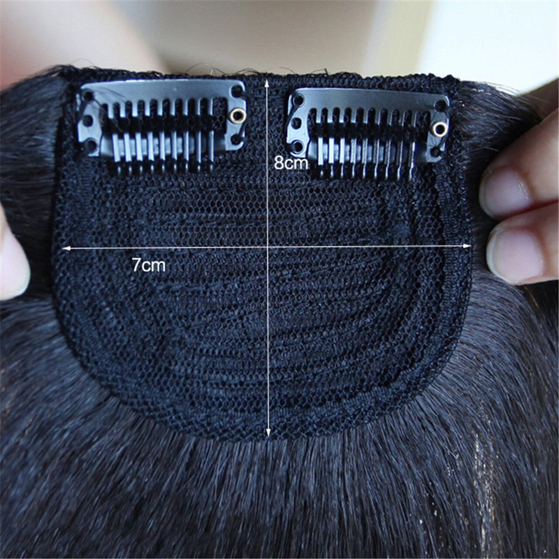Men Slicked Back Hairpiece Invisible Human Hair Mat For Increasing Hair Volume 2