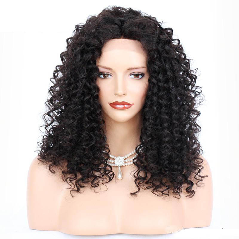Messy Curly Lace Front Wigs Indian Remy Hair,4.5inch Deep Part Space