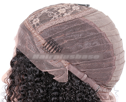 Indian Remy Hair Middle Part Jheri Curl Natural Looking Glueless Silk Part Wigs