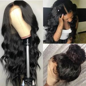 Natural 360 Lace Wigs With Baby Hair Body Wave Brazilian Human Hair Wig