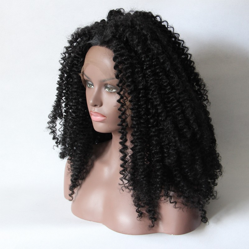 Natural Black Afro Kinky Lace Front Wigs For Black Women
