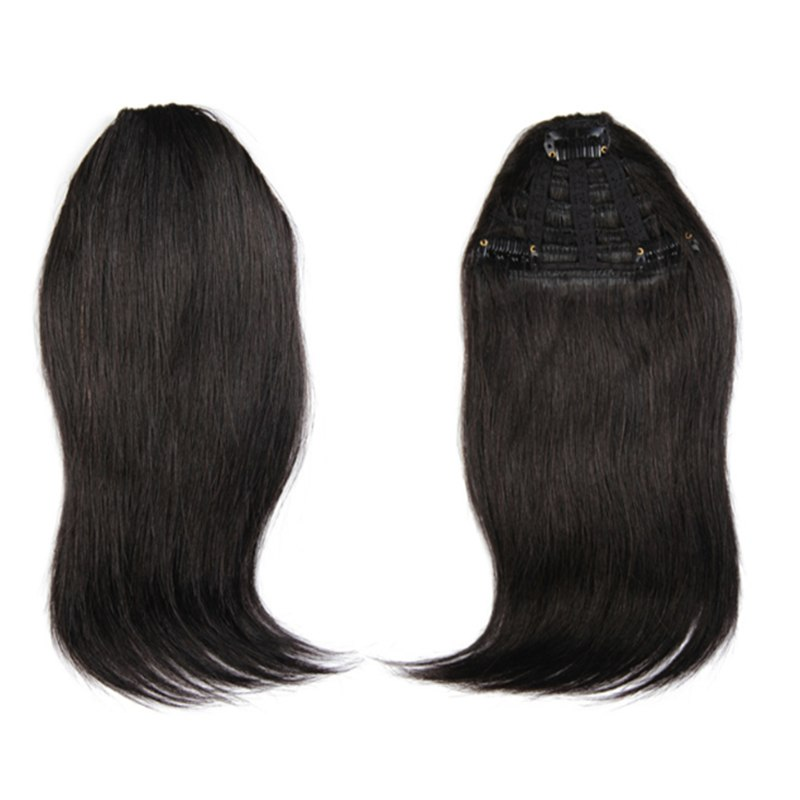 Natural Human Hair Extension Clip In Front Hair Bangs Fringe Human Straight Hair