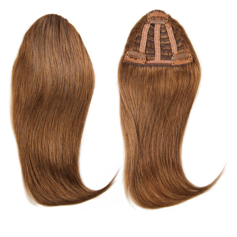 Natural Human Hair Extension Clip In Front Hair Bangs Fringe Human Straight Hair 4