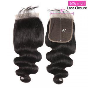 New Arrival Body Wave 6x6 Inch Lace Closure Cheap Virgin Human Hair Closure