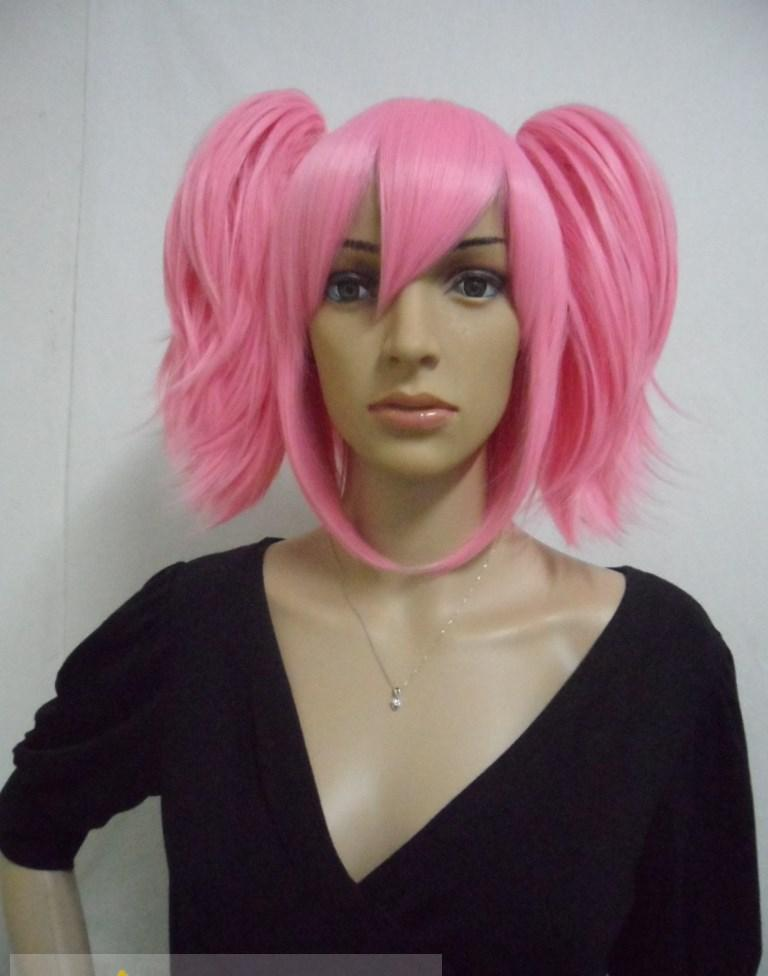 Newest Capless Long Synthetic Hair Pink Wavy Curly Cheap