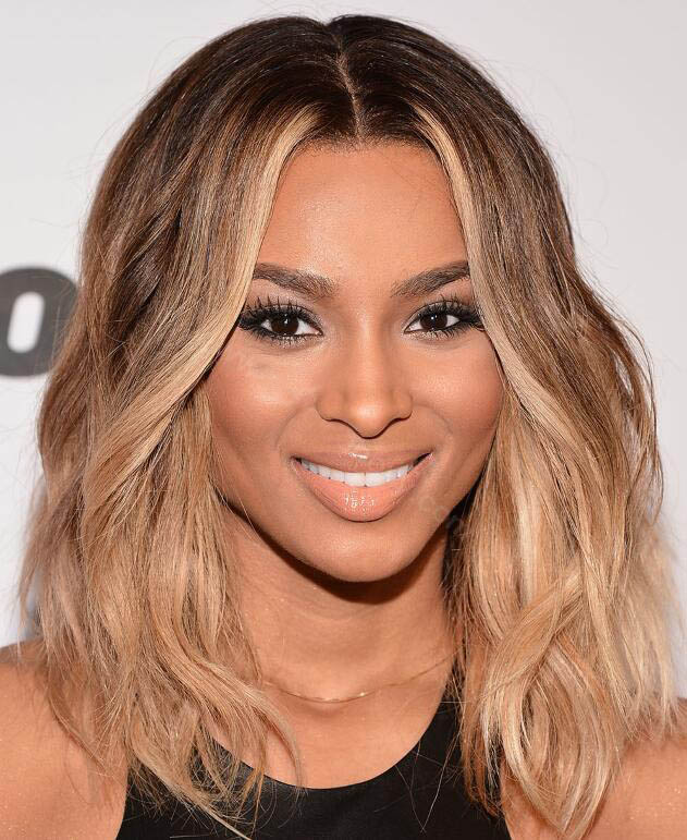 Ombre Blonde Wave Bob Wigs Glueless Lace Front Wigs Peruvian Virgin Hair