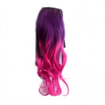 Ombre Colorful Ponytail Wavy 04# Purple/Rosy 1 Piece