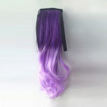 Ombre Colorful Ponytail Wavy 06# Deep purple/Light Purple 1 Piece