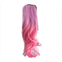 Ombre Colorful Ponytail Wavy 07# Pink/Warm Pink 1 Piece