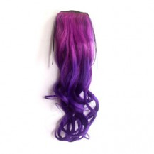 Ombre Colorful Ponytail Wavy 09# Rosy/Purple 1 Piece