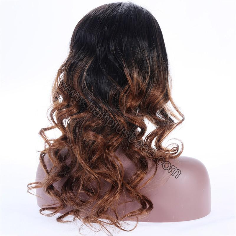 Ombre Glueless Lace Front Wigs Peruvian Virgin Hair Natural Color To #30 8