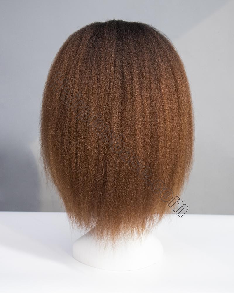 Ombre Kinky Straight Headband Wigs 180% Density #1b/33 5
