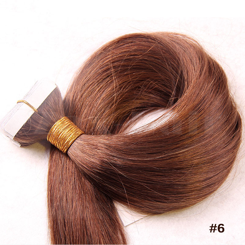10 30 inch tape in human hair extensions 6 light brown straight omgnb detail 4 pmusecretfo Gallery