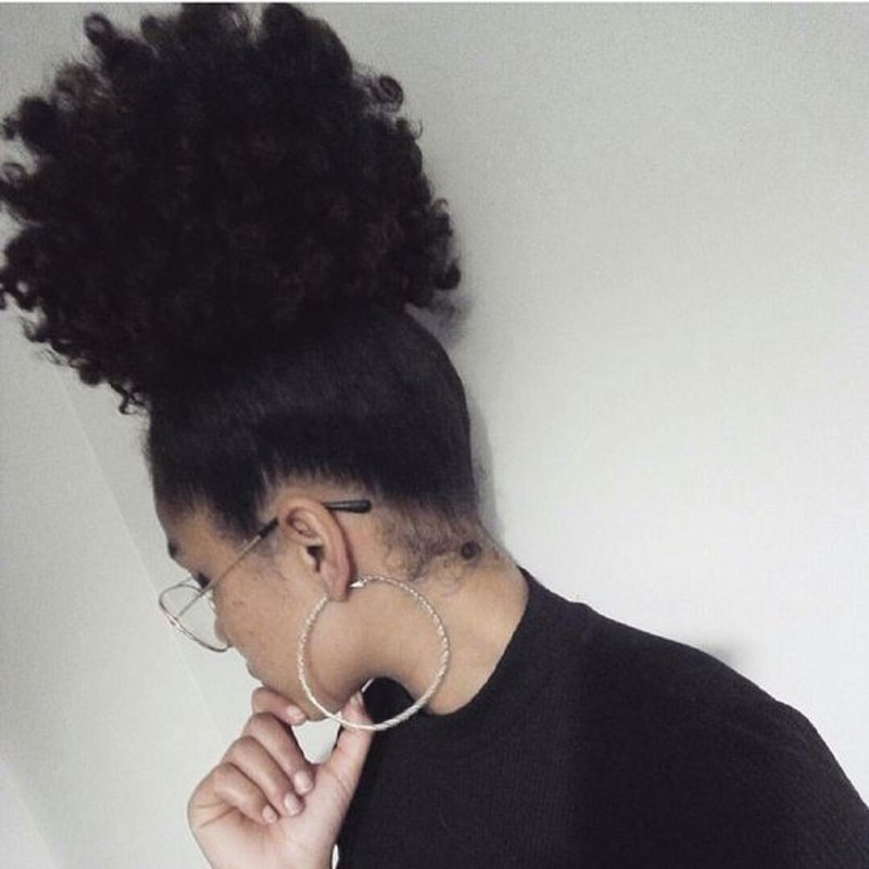 8 26 Inch Afro Kinky Curly Ponytail Human Hair