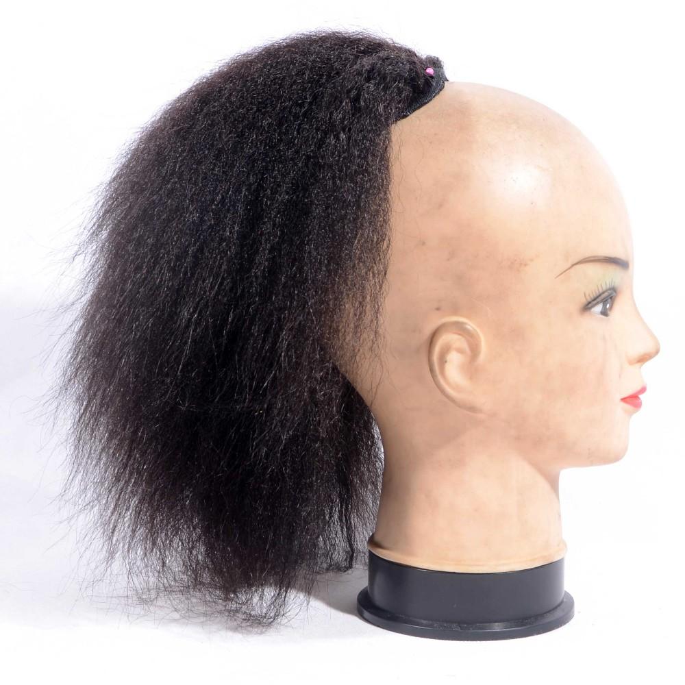 8 26 inch kinky straight ponytail human hair drawstring ponytail omgnb detail 0 pmusecretfo Image collections