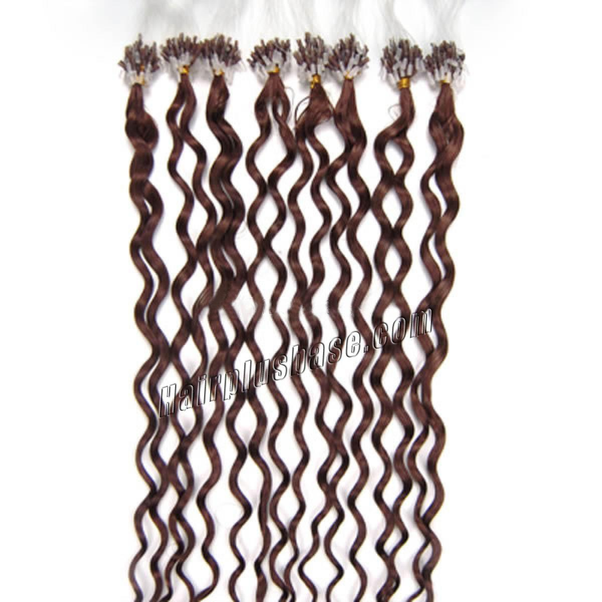outstanding 34 inch  33 rich copper red curly micro loop hair extensions 100 strands 21691 0v
