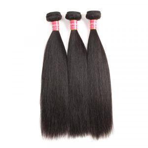 Peruvian Hair Weaves Straight Human Hair 3 Bundles Good Virgin Hair