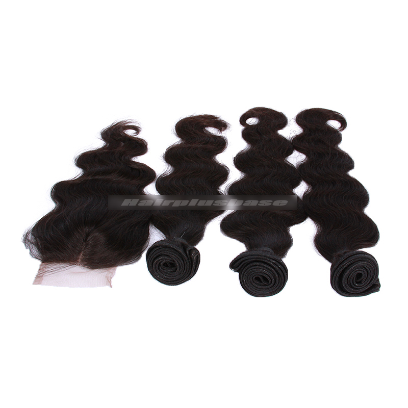 peruvian virgin hair body wave a lace closure with 3