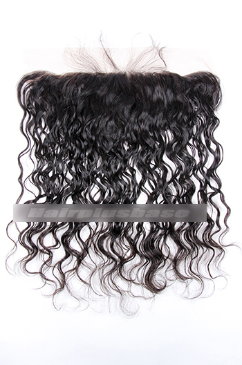 Hot Loose Curl Peruvian Virgin Hair Lace Frontal