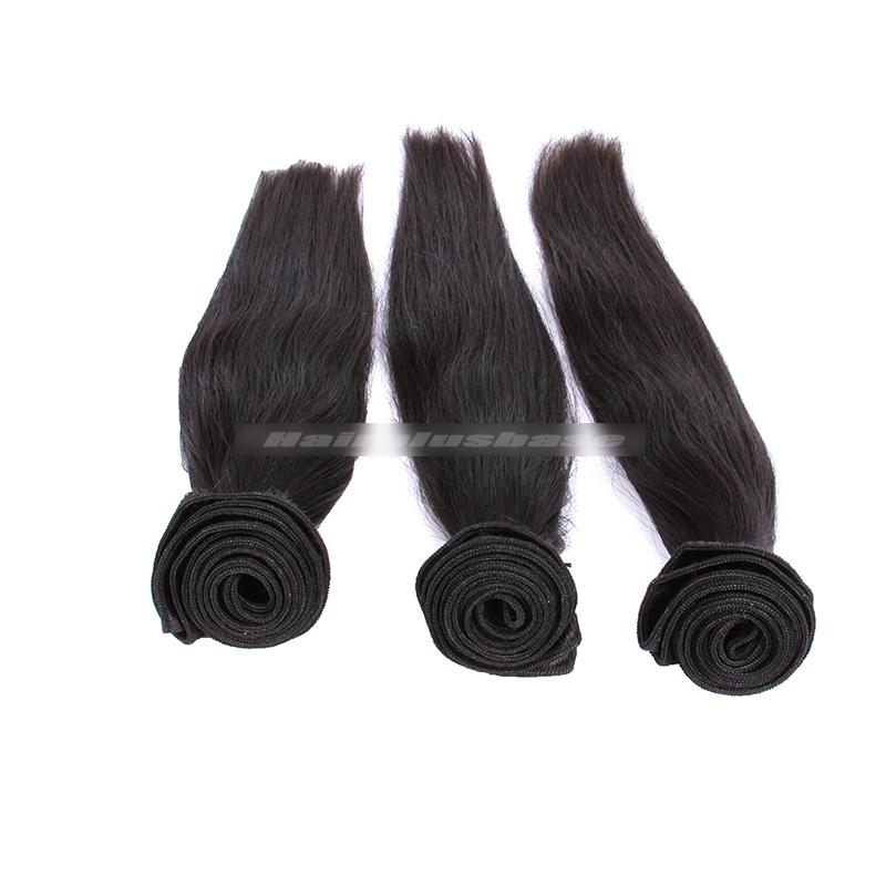 3 Bundles Deal Peruvian Virgin Hair Natural Color Silky Straight Hair Extension