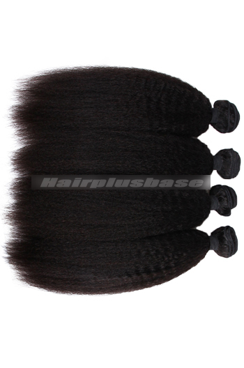 8-30 Inch Kinky Straight 7A Virgin Hair Weaves 4 Bundles Deal
