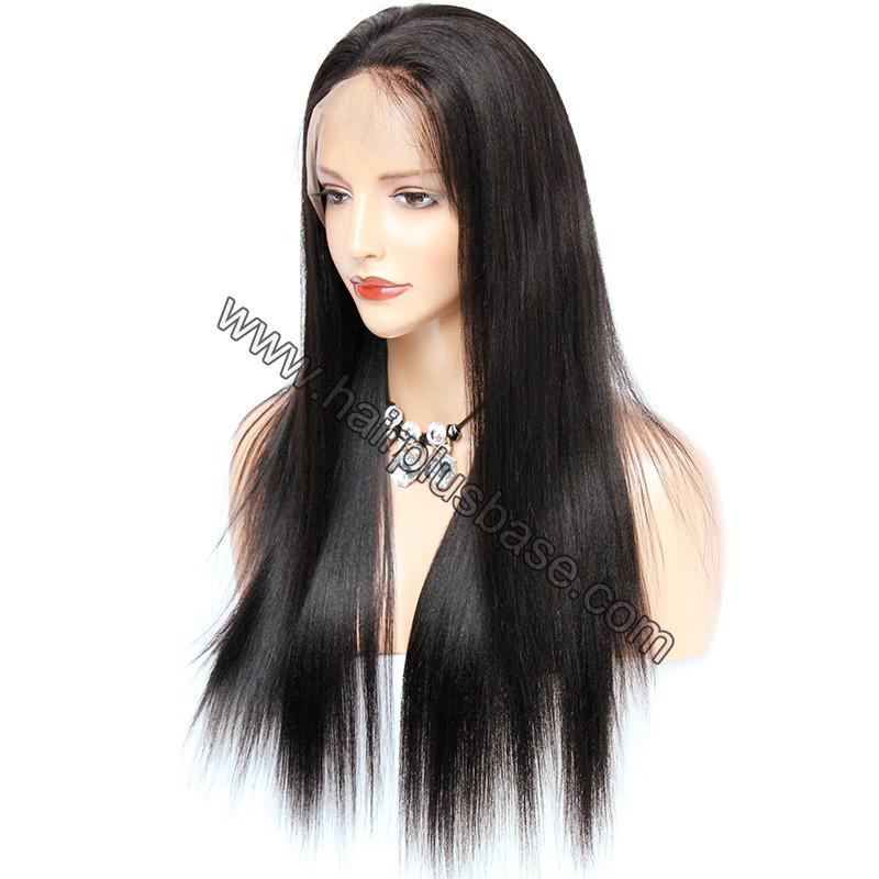 Pre Plucked 360 Lace Wigs Yaki Straight,150% Density, Brazilian Virgin Hair 3