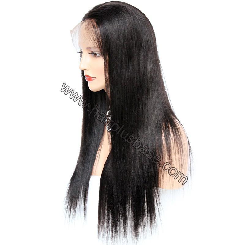 Pre Plucked 360 Lace Wigs Yaki Straight,150% Density, Brazilian Virgin Hair 4